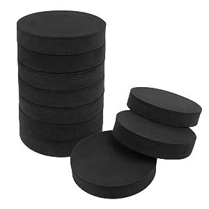 10 Pcs Washing Machine Anti Vibration Pads, Shock Absorbing Washer Pads Anti-Walk Washer and Dryer Pads for Washing Machine Dryer Treadmill (Round)