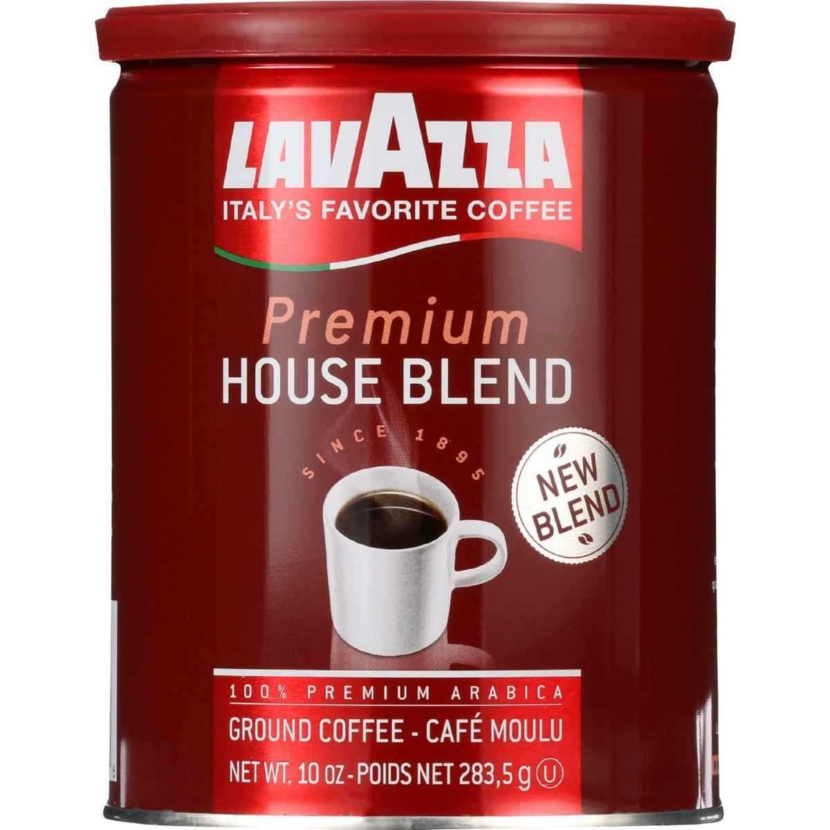 LAVAZZA Fat Free Ground Premium House Blend, 10 oz