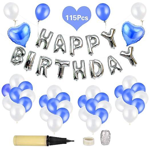 Etmury Happy Birthday Globos, 115 Unidades, Globos ...