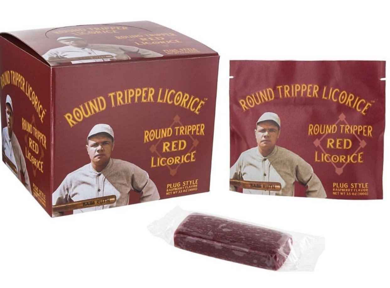 Round Tripper Red Raspberry box of 8 pouches