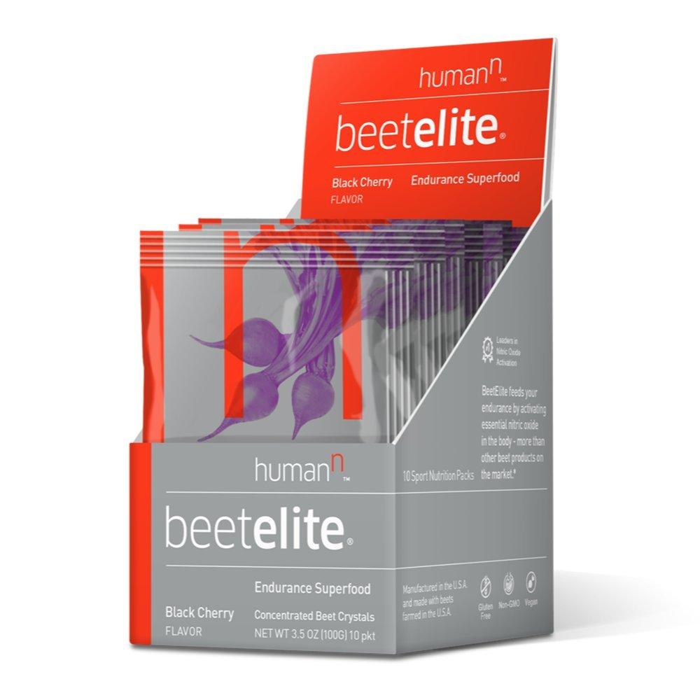 HumanN Beetelite - Beet Root Powder - Nitric Oxide Booster - Athletic Endurance Beet Supplement - Natural Black Cherry Flavor (10 Servings)