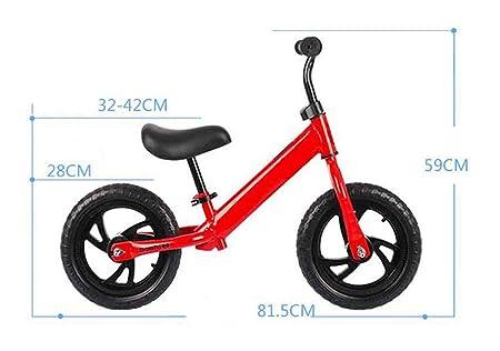 Bicicleta para niños Bicicleta de 12 pulgadas Equilibrio Bicicleta de dos ruedas Sin pedal Caminar Equilibrio Entrenamiento de la bicicleta Impulsor de ...