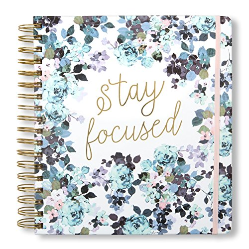 2019-2020 Stay Focused, 17 Month Daily Planners/Calendars: Tri-Coastal Design Planners with Monthly, Weekly and Daily Views - Personal Planner Notebook for Work or Home (Best Cheap Notebooks 2019)