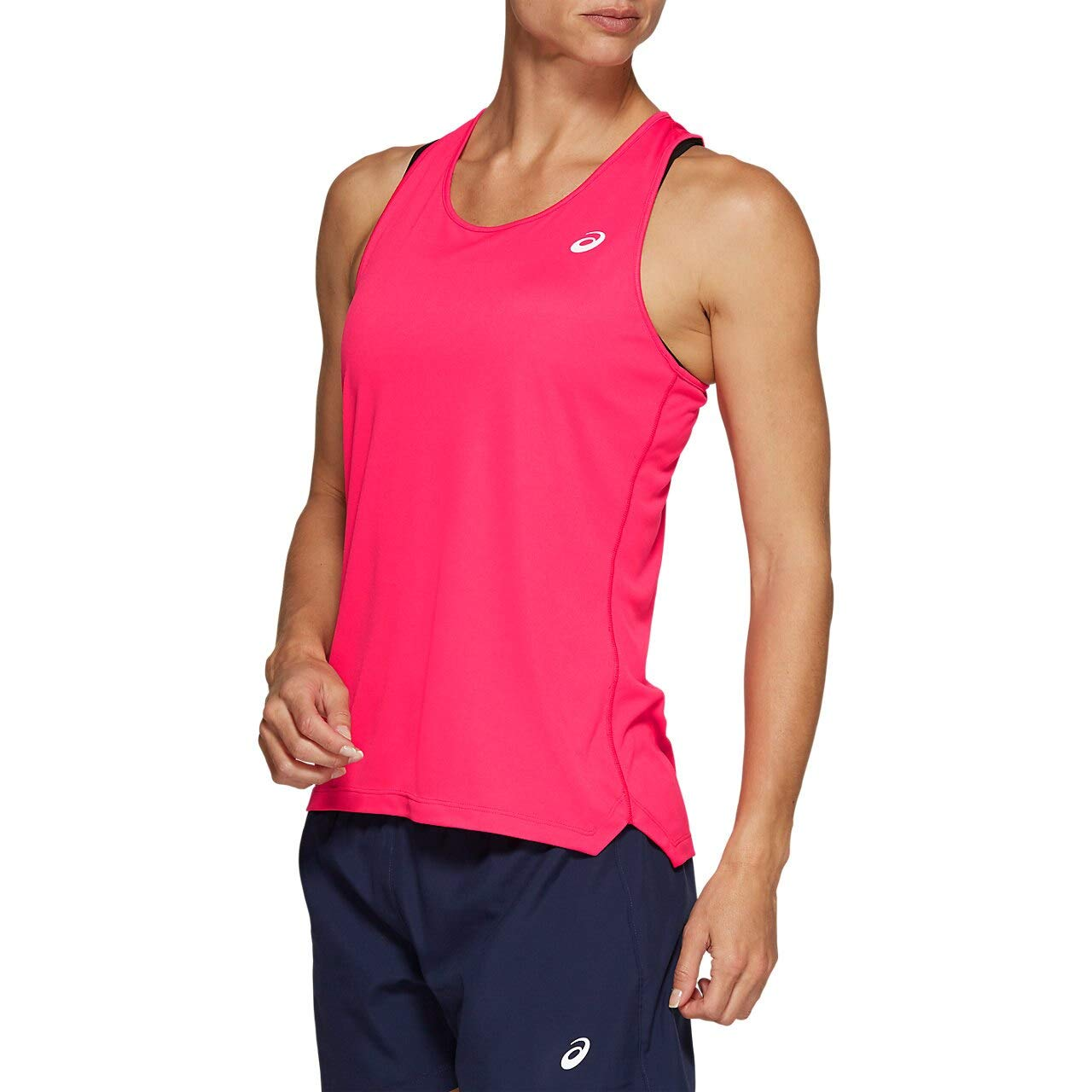 ASICS Women's Run Silver Tank Top Pixel Pink Medium by ASICS