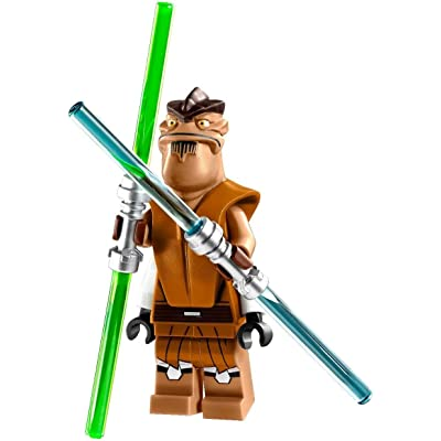 LEGO Star Wars Minifigure - Jedi Master Pong Krell with Dual Lightsabers (75004): Toys & Games