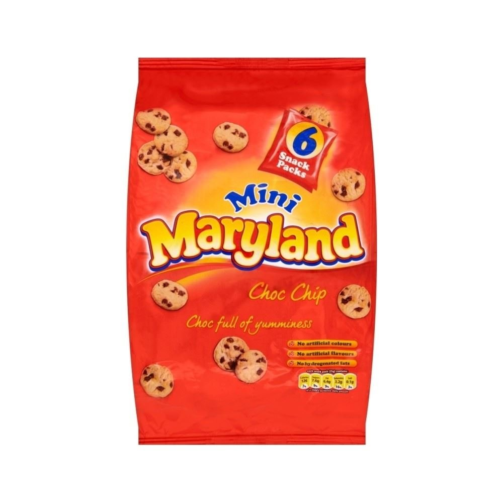 Maryland Mini Choc Chip Cookies (6x25g) Groceries