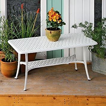 Lazy Susan Claire - Table basse de jardin blanche ...