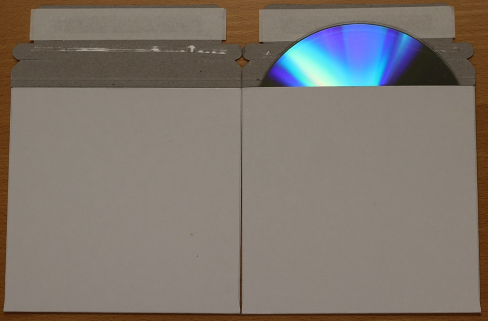 1,000 CD/DVD White Cardboard Mailers, Self Seal Mailers with Flap (5 x 5)
