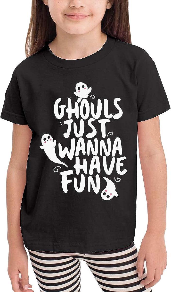 Cute Halloween Kids Cotton T-Shirt Basic Soft Short Sleeve Tee Tops for Baby Boys Girls