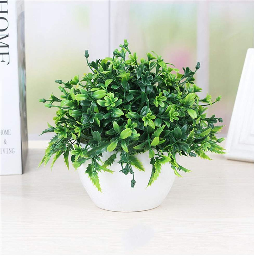 Artificial-Green-Plant-Potted-Plant-Artificial-Flower-Fake- & Artificial Green Plant Potted Plant Artificial Flower Fake Plastic ...