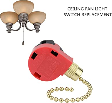 Amazon.com: 3 Speed Ceiling Fan Control Switch, 4 Wire Pull Chain Switch  ZE-268S1 Replacement Fans Accessories Switch Appliances Compatible with Hunter  Ceiling Fan Lights (Brass Pull Chain): Kitchen & DiningAmazon.com