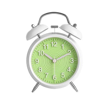 Ukey Reloj Despertador 4 Pulgadas con Doble Campana, sin tictac ...