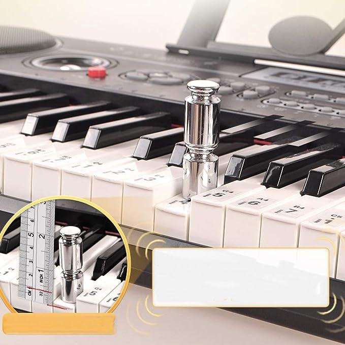 DUWEN Teclado para niños Tutorial de autoestudio de 6 a 10 años Principiante Fundación Zero (con soporte para micrófono + piano) (Color : NEGRO): Amazon.es: ...