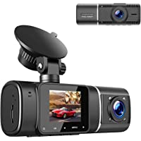 $75 » TOGUARD Dual Dash Cam with IR Night Vision, HD 1080P Front and 720P Inside Cabin Dash…