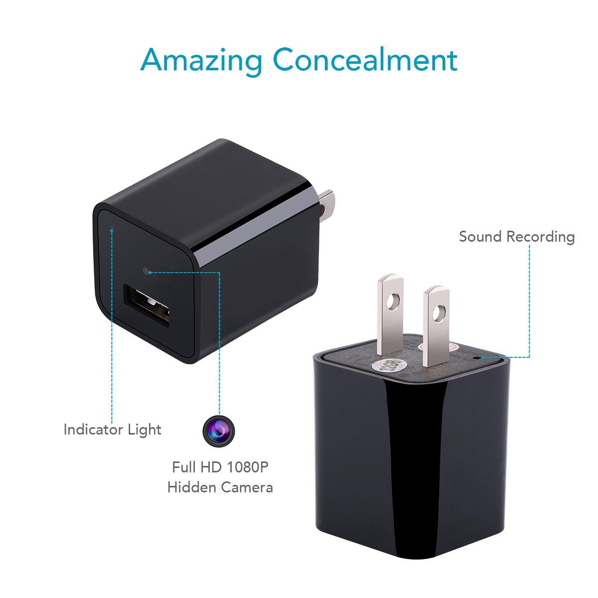 Amazon.com: 32G Acetek Hidden Cameras Charger Adapter Motion ...