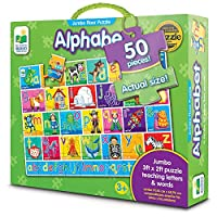 The Learning Journey: Jumbo Floor Puzzles - Alphabet - Extra Large Puzzle Measures 3 ft by 2 ft