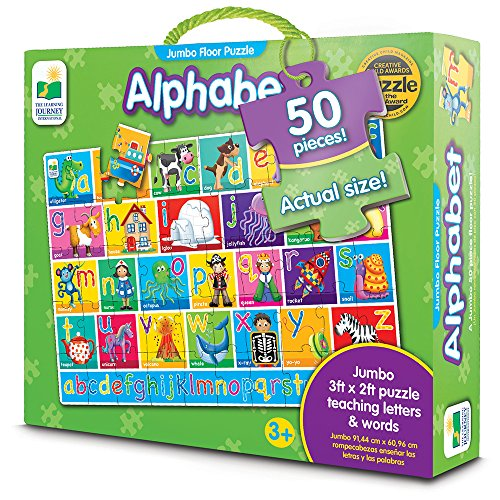 The Learning Journey Jumbo Floor Puzzles - Alphabet - Extra Large Puzzle Measures 3 ft by 2 ft (Abc Floor Puzzle)