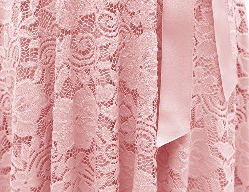 Vestiti Dresstells Corta Casual Vestito Cerimonia Pizzo Donna Manica Vintage Blush nnq1xRO8