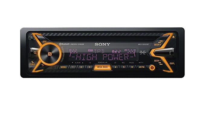 amazon com: sony mex-xb100bt single din hi-power bluetooth in-dash  cd/am/fm/siriusxm ready car stereo with 160w rms (cea rated power) built-in  4-channel