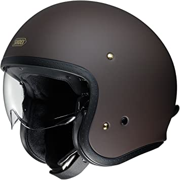 Casco Abierto Moto Shoei J.O. Matt Marron (S , Marron)