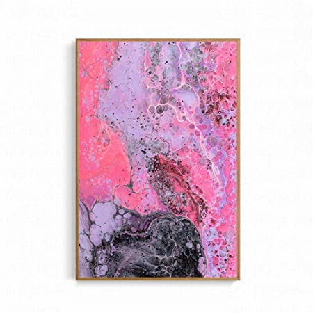 NIMCG Moda Arte Abstracto Pintura Colorida Nube Lienzo ...