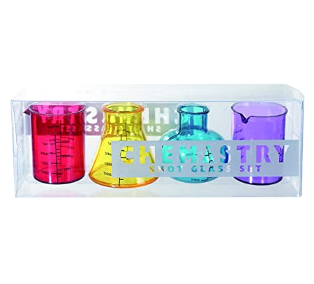 Science geek novelty set of 4 chemistry shooter glass set science geek novelty set of 4 chemistry shooter glass set popular ideal present gift negle Images