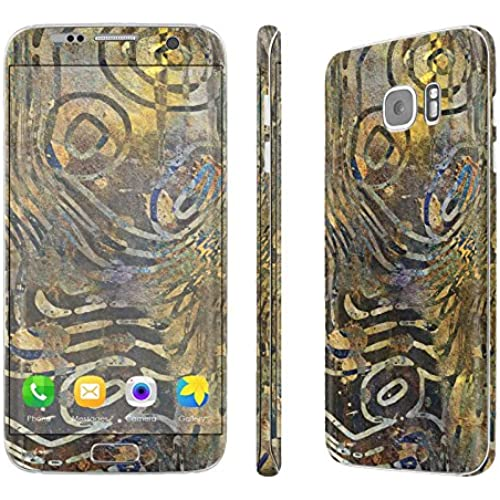 Galaxy [S7 Edge] Skin [NakedShield] Scratch Guard Vinyl Skin Decal [Full Body Edge] [Matching WallPaper] - [Rustik Batik] for Samsung Galaxy [S7 Sales
