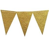 Hosaire Banderole Anniversaire Guirlande de Fanions Bannière Multicouleur Banderole en Papier Décor pour Fête de Mariage Anniversaire