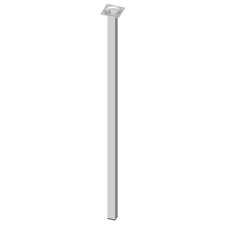 18133-00313 80 cm Element System 4 St/ück Stahlrohrf/ü/ße eckig wei/ß 4 farben Tischbeine 10 Abmessungen M/öbelf/ü/ße inklusive Anschraubplatte