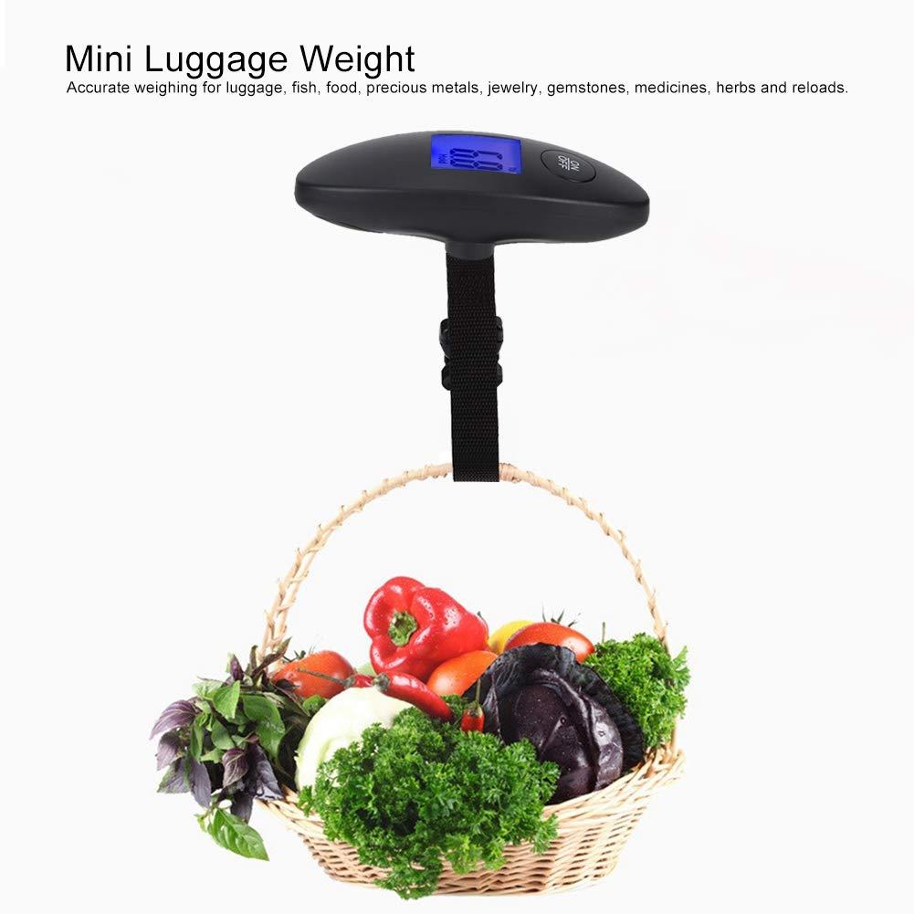 Woyisisi 40kg Mini Num/érique Haute Pr/écision LCD /Écran Valise Bagages Poids Suspendus /Échelle