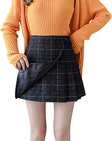 Sylar Mini Falda Mujer Faldas Cortas Mujer Cintura Alta Falda ...