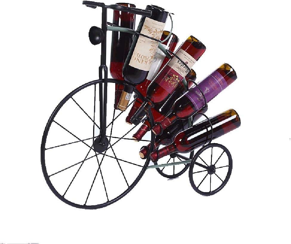ワインラック・ホルダー お気に入りのワインエレガントルッキングスタイルワインラックワインラックスタンドの8本のボトルに褒めどれでもスペースを保持します ワインストレージ 家飾り (Color : Black, Size : 62x65x22cm)