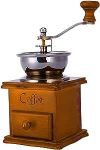 Accessotech-Especias para granos de caf/é estilo vintage madera molinillo a mano accesorios de cocina Fresh