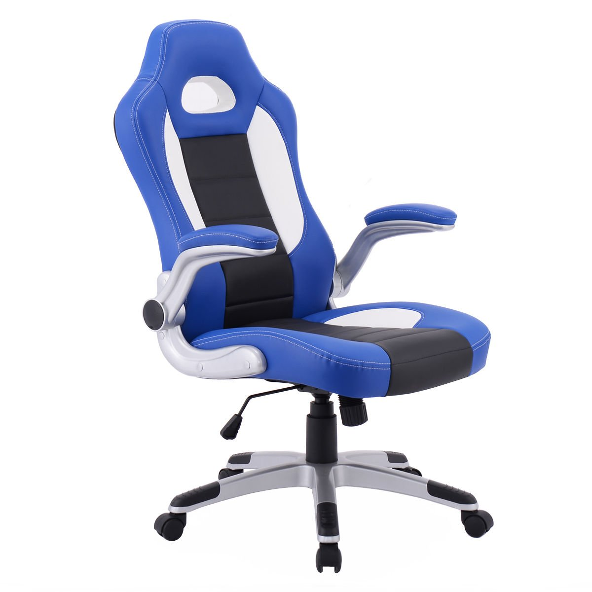Officelax Gaming Chair Racing Style Ergonomic Office Chair PU Leather Adjustable Computer Desk Chair Swivel Task Chair with Bucket Seat and Removeable Armrest (black)