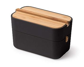 Lexon Lh42n Boite Pour Salle De Bain Bambou Noir 15 4 X 8 4 X 9 4