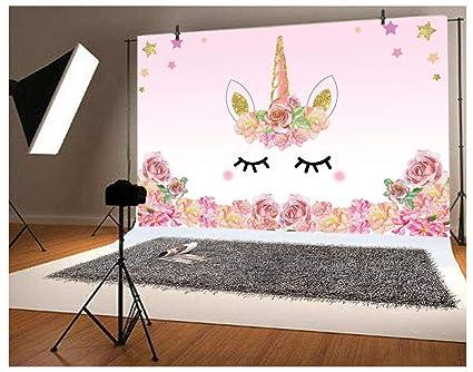 Amazon Com Laeacco 5x3ft Photography Background Unicorn Birthday