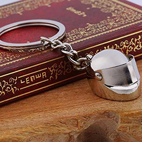 1 X Mini Motorcycle Helmet Keychain Funny Key Ring Mens Gift Moto Accessories Collect