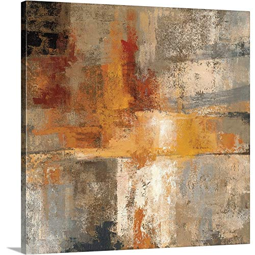 - Silver and Amber Crop Canvas Wall Art Print, 30