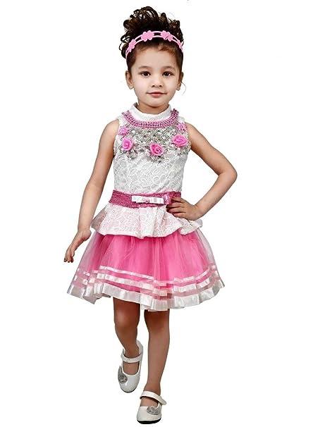 6cc3d1680 Tillu Pillu Designer Midi Dress for Girl Kids - Party Wear.: Amazon.in:  Clothing & Accessories