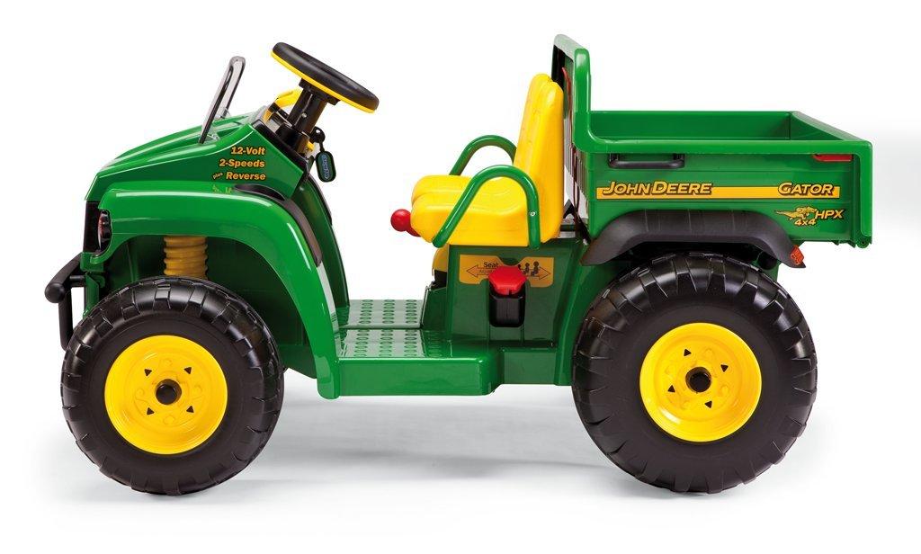 peg perego vhicule electrique john deere gator tracteur 2 places avec benne basculante 12 volts amazonfr jeux et jouets
