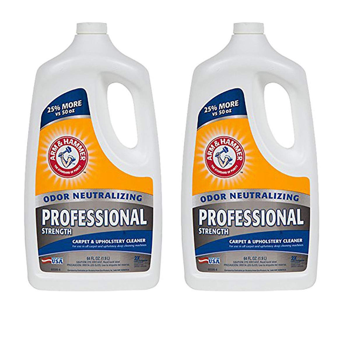 Arm & Hammer 64 Ounce Professional Strength Carpet Washer Extractor (2 Pack) by Arm & Hammer