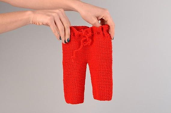 Pantalones Tejidos A Mano A Crochet Para Bebe De Acrilico Amazon Es Ropa Y Accesorios