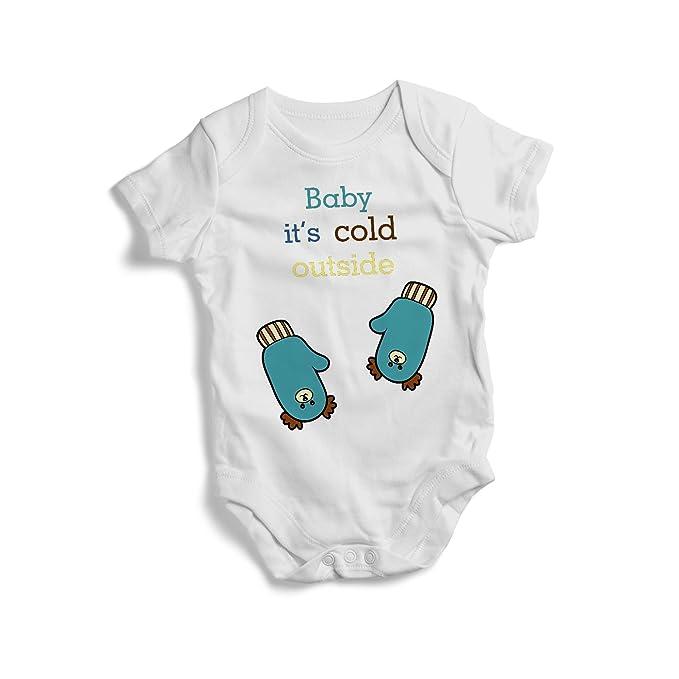 3c09bdb36 Amazon.com  Baby it s cold outside blue BEAR! Christmas winter ...