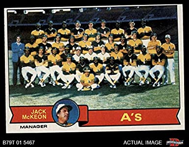 Amazoncom 1979 Topps 328 Athletics Team Checklist Jack