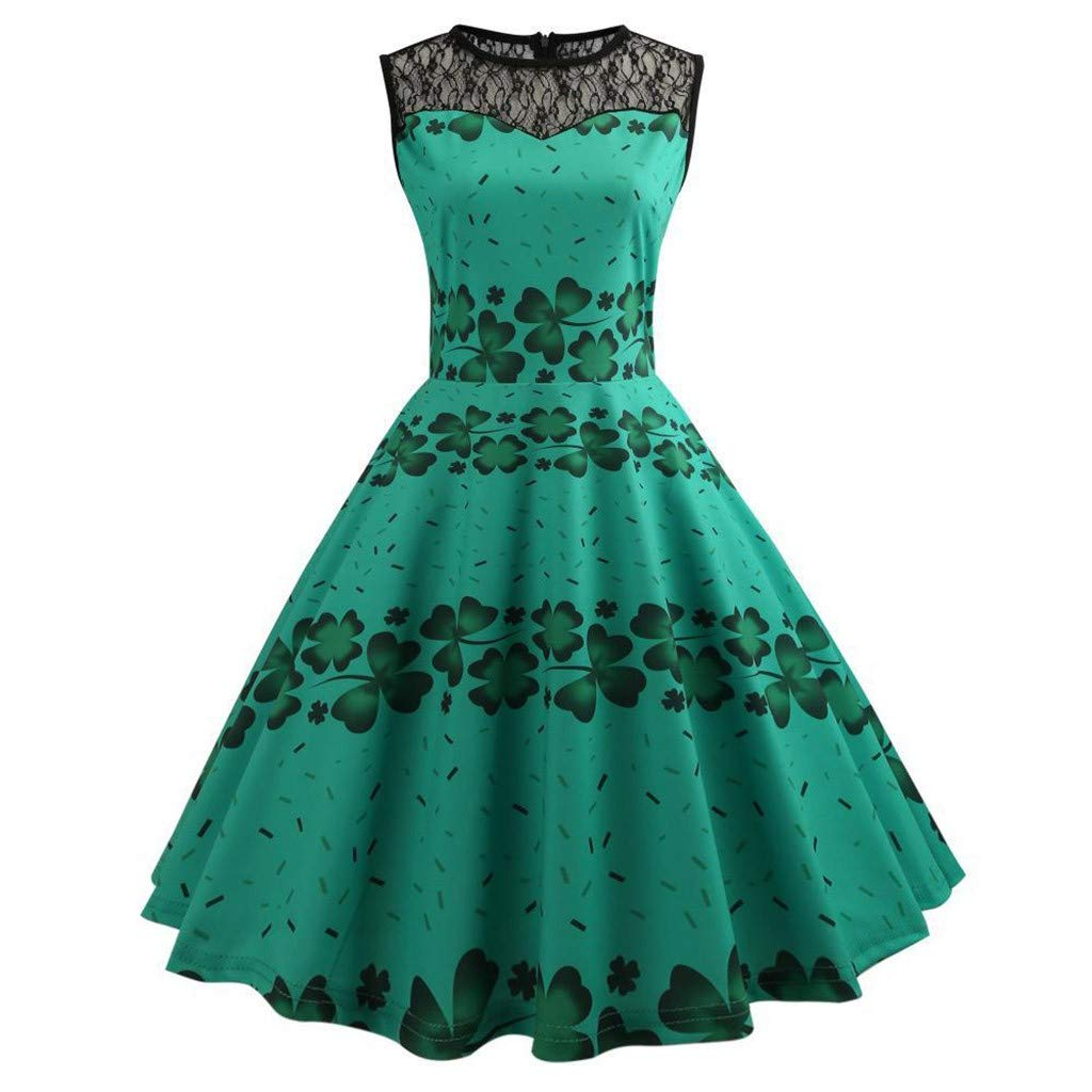 Serzul Ladies/Girls Summer Flower Avocado Print Bodycon Dress Sleeveless Sling Swing Dress Prom Dance Dress by Serzul Women Dress
