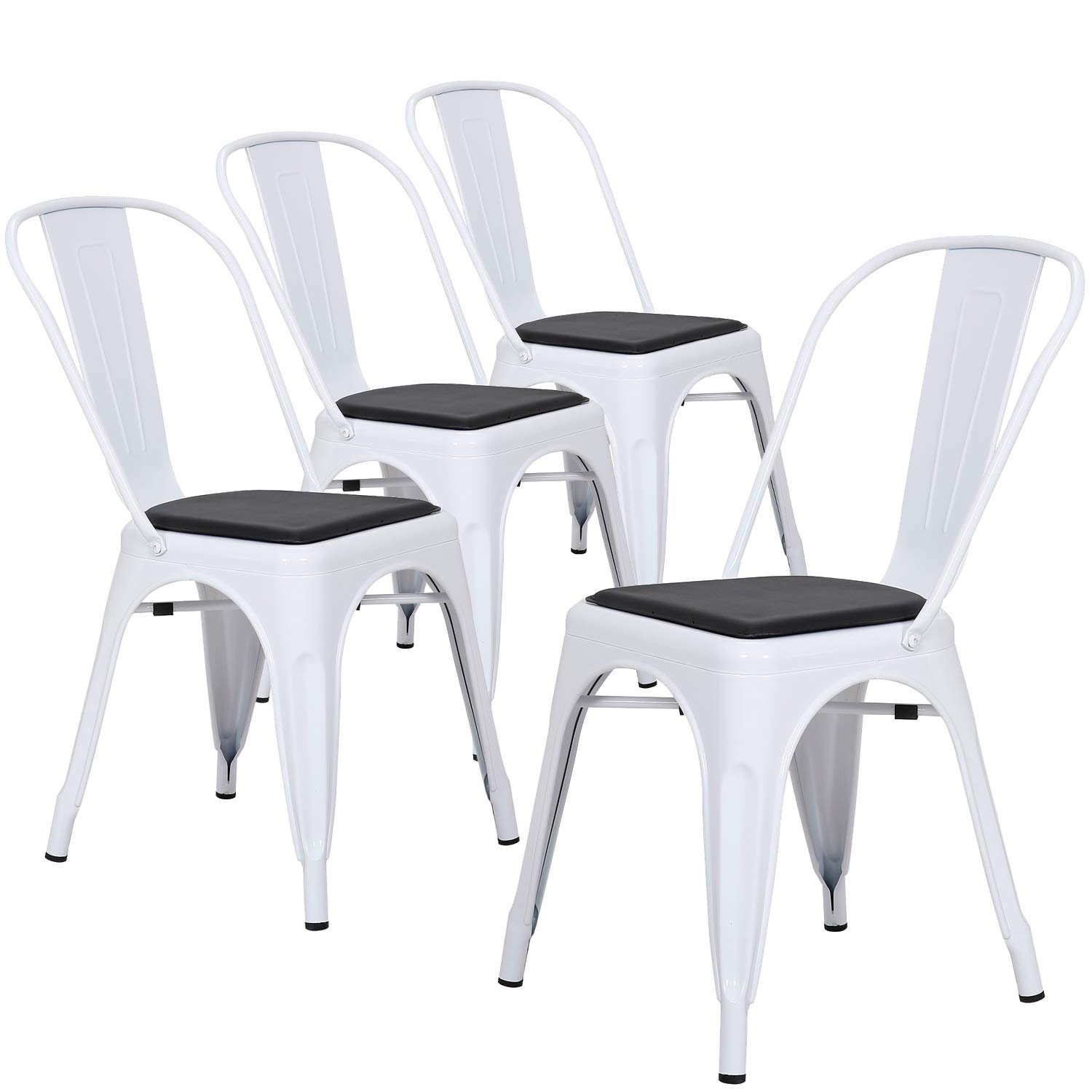 Amazoncom Lch Industrial Metal Dining Chairs Set Of 4 Modern