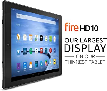"Fire HD 10 Tablet with Alexa, 10.1"" HD Display, 16 GB, Black - with Special Offers (Previous Generation - 5th)"