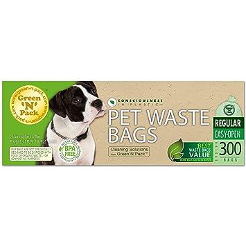 Amazon.com: Verde N paquete perro residuos basura bolsas ...