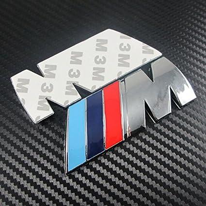 For Bmw Cars M Power M Series Silver Logo Emblem Badge Decal Sticker