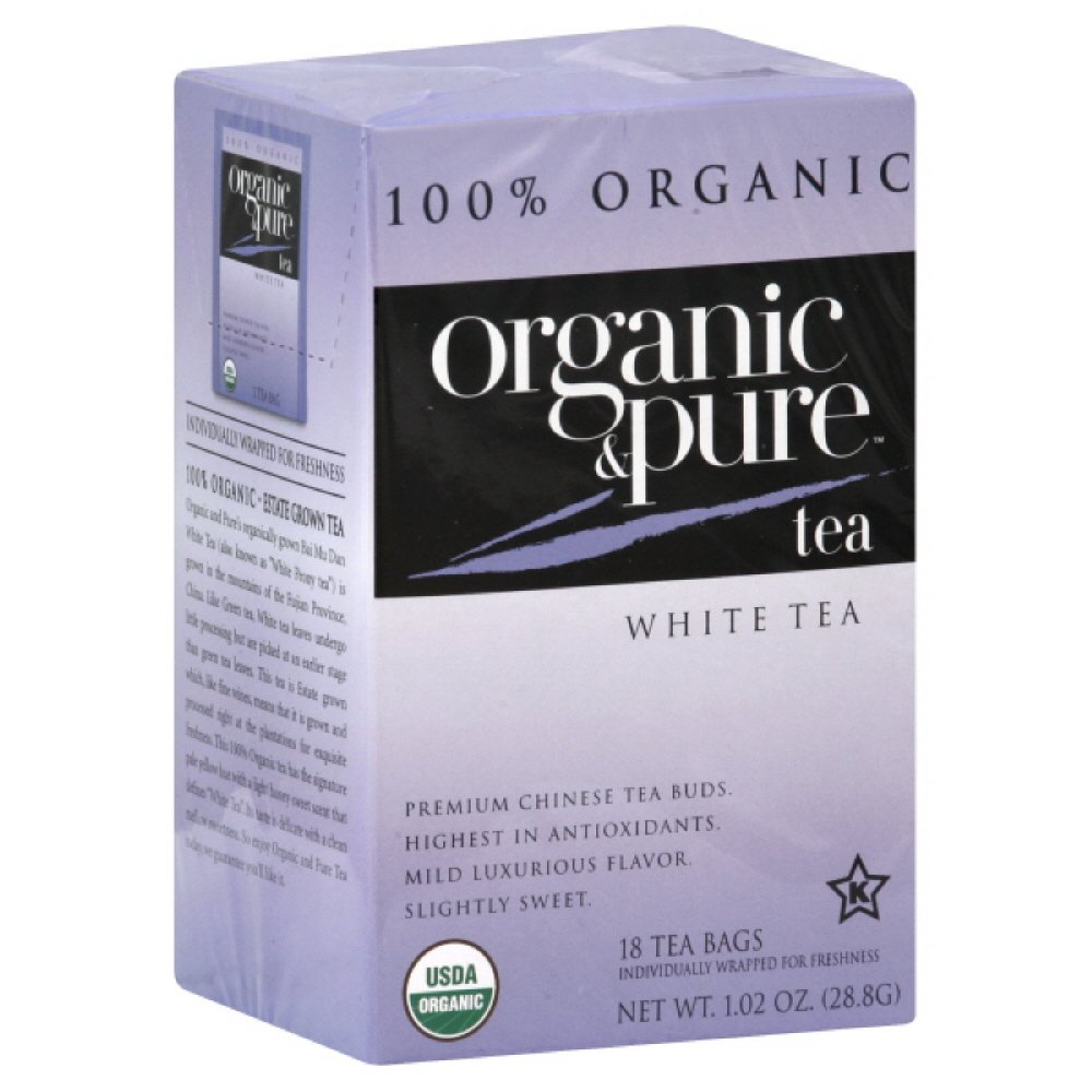 Organic & Pure White Tea, 18-count (Pack of6) by Pure Organic